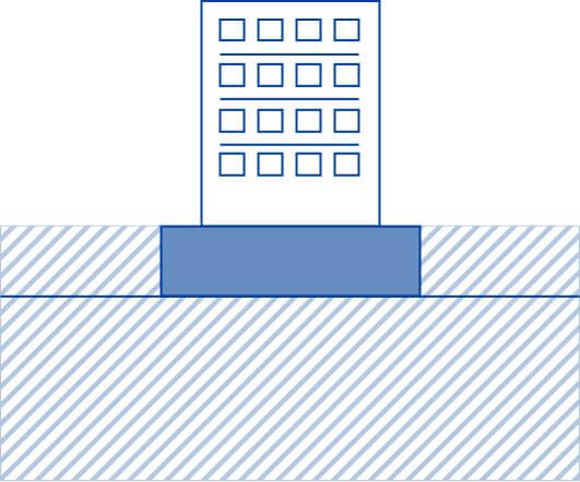 表層改良工法のイメージ図