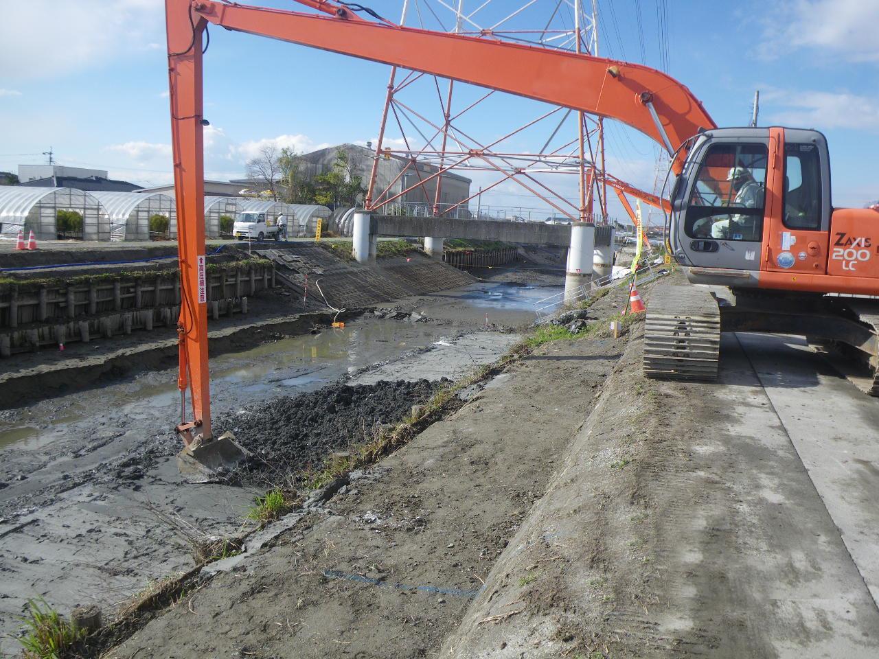 河川・河床におけるセメント改良